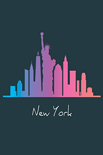 New York: NY Skyline / Medium Size Notebook with Lined Interior, Page Number and Daily Entry Ideal for Organization, Taking Notes, Journal, Diary, Daily Planner