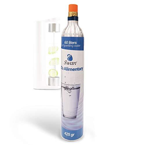 BOMBOLA Co2 per GASATORE Acqua FRIZZANTE - Cilindro di Anidride Carbonica Ricarica Gastone Compatibile con SODASTREAM, 80 cl di Gas Equivalente a 60 lt di Acqua GASSATA
