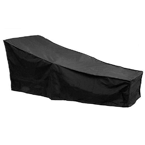 Fundas para muebles de jardín impermeables 208x76x40x80cm, fundas para muebles de patio al aire libre, fundas para chaise lounge para exteriores, resistentes al agua, resistentes, duraderas, a prueb