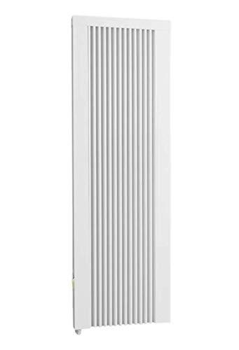 Calefacción eléctrica de 1200 W (altura de construcción) con núcleo de arcilla refractaria, radiador eléctrico con piedra de memoria de arcilla refractaria con termostato.