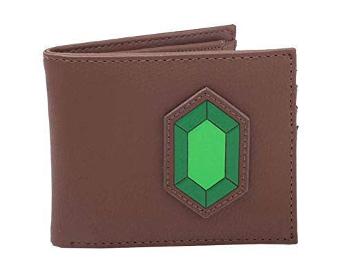 Nintendo Zelda Brieftasche Rupee Hylian crest Logo Nue offiziell Braun Bifold