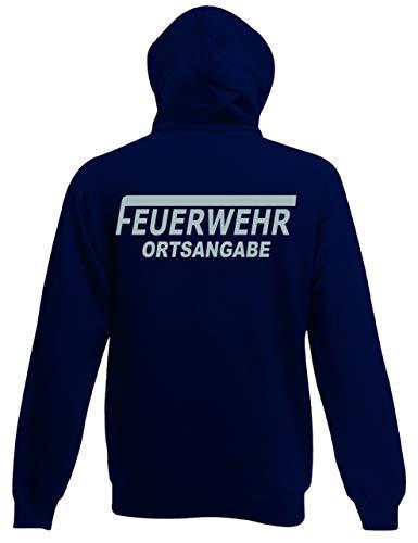 Shirt-Ideen.com Feuerwehr Sweat-Jacke mit Kapuze (M, reflexsilber)
