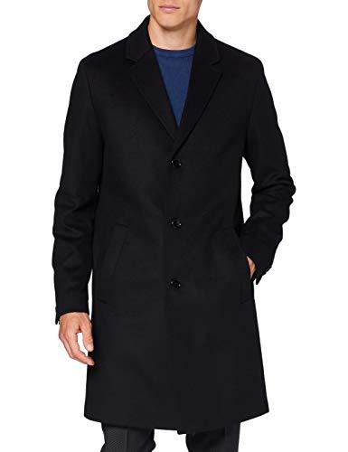 HUGO Mens Malte2041 Dress Coat, Black (1), 102