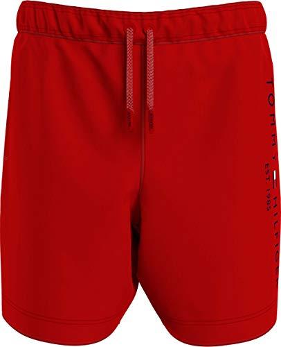 Tommy Hilfiger Boy's MEDIUM Drawstring Swim Trunks, Primary Red, 8-10 Years