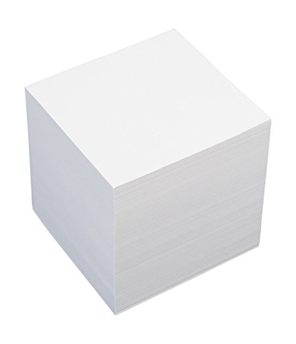 König & Ebhardt 8601010 Ersatzeinlage für Zettelbox (9 x 9 x 9 cm, 700 Blatt) weiß