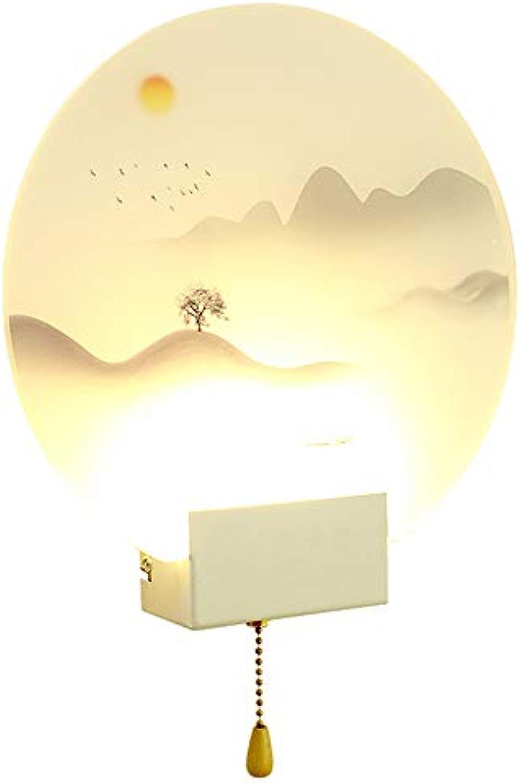 Mit Zugschalter Kreative Wandleuchte Schlafzimmer Nacht Wohnzimmer TV Hintergrund Wand Gang Treppen Moderne Einfache Lampen