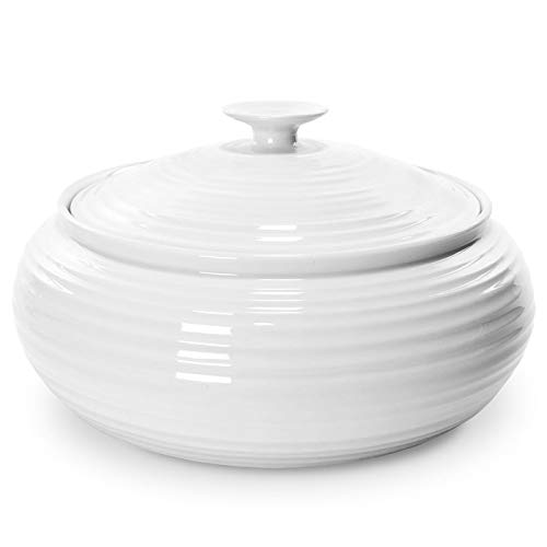 Portmeirion Home & Gifts CPW76815-X Cacerola baja, Porcelana, Blanco