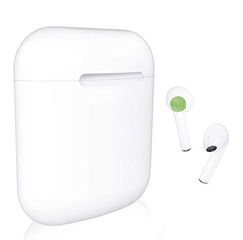 Cuffie Bluetooth Senza Fili, Cuffie Wireless Stereo 3D with IPX7 Impermeabile, Accoppiamento Automatico Per Chiamate Binaurali, Adatto Compatibile con iPhone/Android/Samsung/iOS