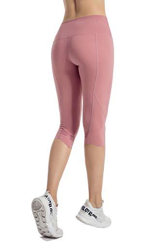 PIZOFF Damen Sport Netzoberfläche Legging Hose Blickdicht Gym Sporthose Laufen Fitness 3/4 Yogahose Wave Design