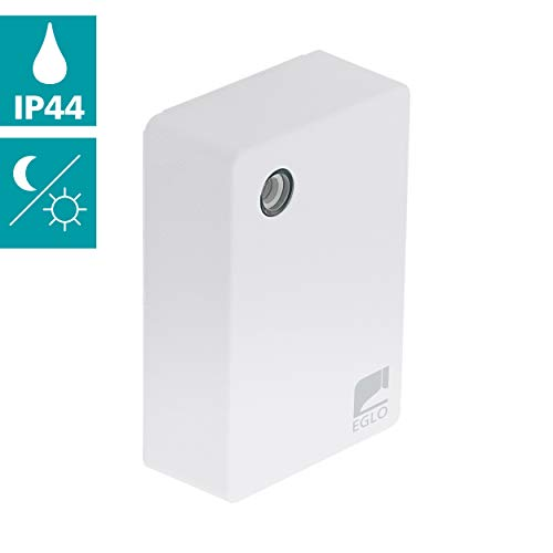EGLO Sensor Detect me 5, Bewegungssensor aus Kunststoff, Farbe: Weiß, inkl. Tageslichtsensor, IP44