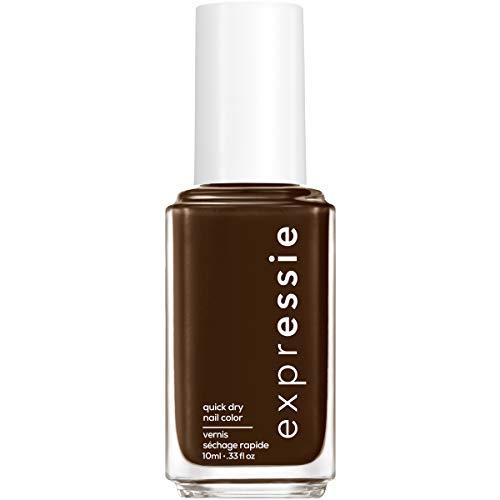 essie expressie Quick-Dry Nail Polish, Dark Chocolate Brown 090 Take The Espresso, 0.33 Ounces