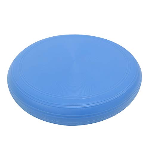 POWRX Ballsitzkissen Deluxe inkl. Workout I 36 cm Yoga Gleichgewichtskissen orthopädisch I Balance Kissen Trainingskissen Blau PVC frei