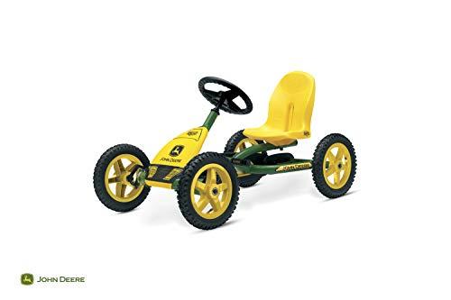 Berg Pedal Gokart Buddy John Deere | Kinderfahrzeug, Tretauto mit Optimale Sicherheid, Luftreifen und Freilauf, Kinderspielzeug geeignet für Kinder im Alter von 3-8 Jahren