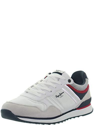 Pepe Jeans Sportschuhe für Herren PMS30607 Cross 800 White Schuhgröße 42