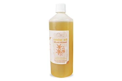 Aceite de ricino 100% puro, prensado en frío 1L, sin hexanos