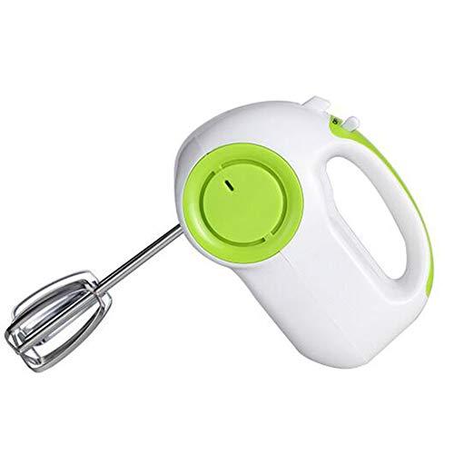 Elektrische Handmixer Set Handrührer Leise Handrührgerät Küche Egg Beater Rührer 150 W 5 Geschwindigkeitsstufen, Schläger*2, Teighaken*2, Eiertrenner*1,Grün