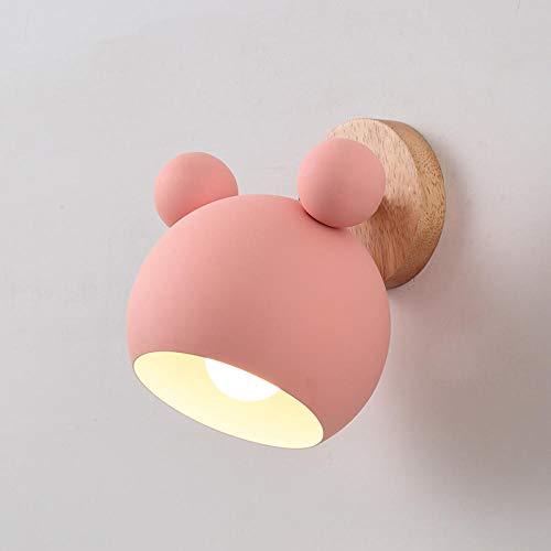 Applique Rose, Lampe De Chevet Chambre À Coucher, Applique Murale Décorative Macaron, Lampe De Chambre D'Enfant