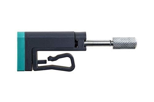 wolfcraft Kantenspanner im 2er Set 3037000 – Zubehör für Schienenzwingen – Ideal für An- bzw. Umleimer und zum Punktspannen – Max. Spannweite 24mm