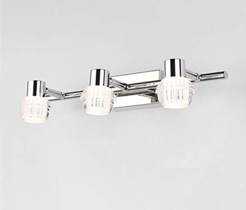 LeiLight Badezimmer-WandleuchteBadezimmer-Eitelkeitslicht-Moderne LED Verfassungs-Wand-Licht-Kabinett-Spiegel-Frontlicht 3 beleuchtet Kristalllampe