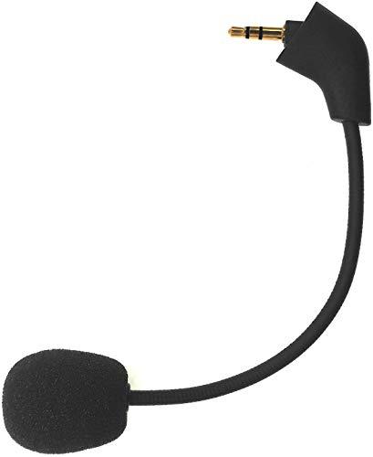 sciuU Micrófono Boom Mic compatible con Kingston HyperX Cloud , Cloud X , Cloud II Cascos de Gaming, para PS4 XBox Nintendo Switch Computer PC, Conector de Cancelación de Ruido de 3,5 mm, Negro