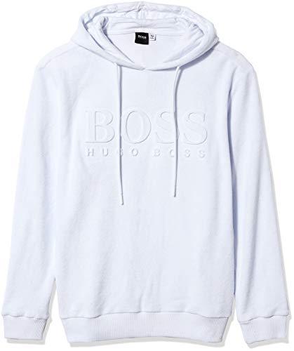 Hugo Boss Herren LS-Shirt Hooded Bademode, Cover-Up, weiß, X-Large
