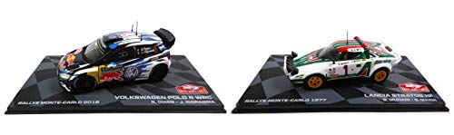 - Set of 2 Cars 1/43 Winner Monte Carlo WRC: R Ogier Polo + Lancia Stratos (Ref: BR1-BR3)