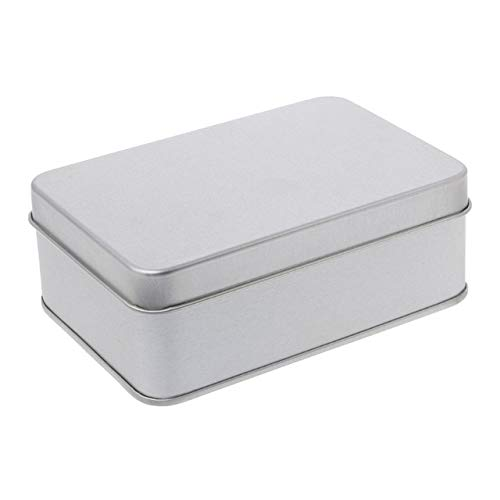 Mdsfe Small metal storage box tin silver storage box coin candy key storage box - 05
