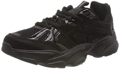 ONLY ONLSHAY-2 PU Tech Sneaker, Zapatillas Mujer, Negro, 37 EU