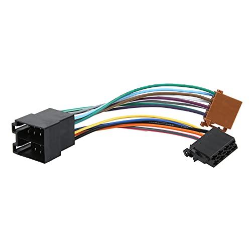 Fydun Adaptador de arnés de cableado, Kit de Audio estéreo para automóvil ISO ABS Apto para Peu-geot 106206306307405406607