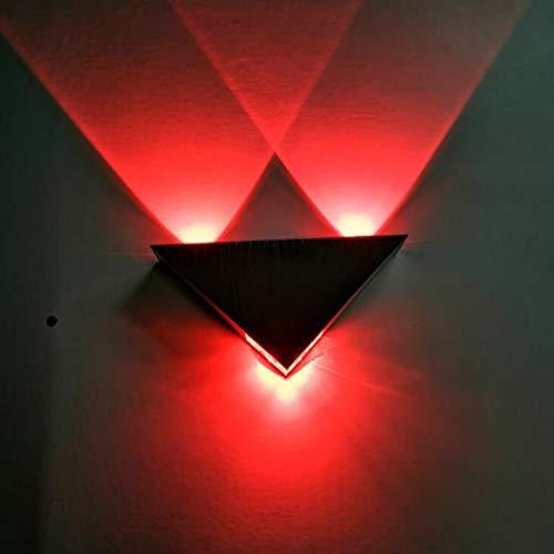 LED kreative Wandleuchte, moderne/zeitgenössische bündige Metallwandlampen-Dekoration-Befestigungen für Hintergrund-Wand-Flur-Partei, 9W, 85-265V,red