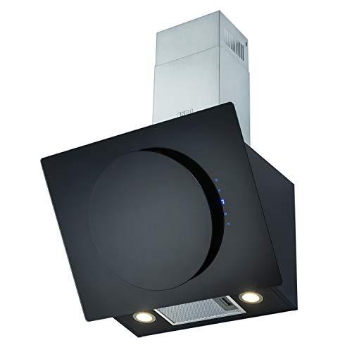 NEG Dunstabzugshaube KF106-ATB (Umluft/Abluft) schwarz 60cm kopffrei mit LED-Beleuchtung, Randabsaugung, Glas-Front, 3 Motorstufen (max. 800m³/h), sehr leise