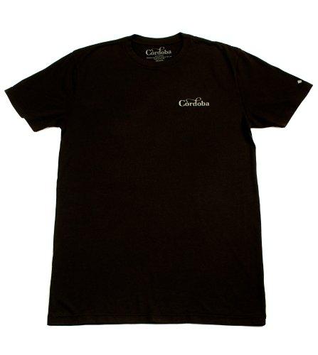 Cordoba T-Shirt mit Schallloch, Gr. L, Schwarz