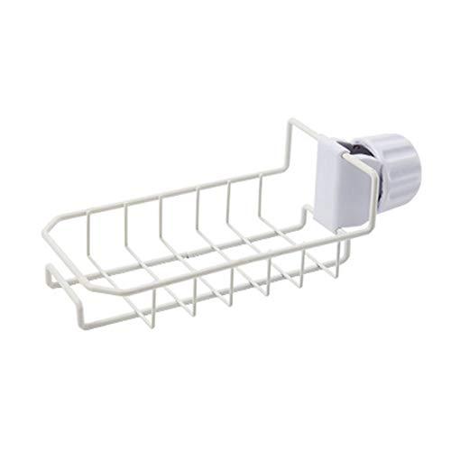 ACHICOO Free Punching Küchenarmatur Waschbecken Abtropffläche Lagerregal für Seifenbürste Organisieren Weiß