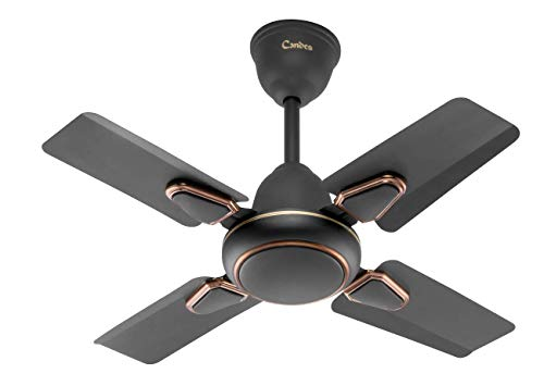 Candes Brio Turbo 600 mm / 24 Inch High Speed 4 Blade Anti-Dust (100% Copper) Ceiling Fan Suitable for Kitchen / Veranda / Balcony / Small Room (Smoke Brown, with 3 Yrs. Warranty)