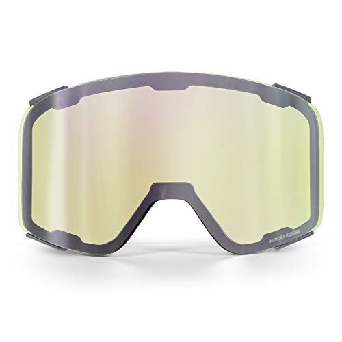 WildHorn Outfitters Pipeline Ski Goggle Replacement Lenses, Low Light Mirrored Yellow, Adult