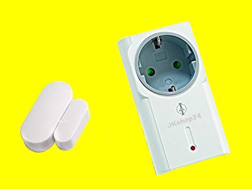 Intertechno Funk-Abluftsteuerung Set 1500 Watt mit Abschaltautomatik - Intertechno Funk-Steckdose ITR-1500 und Intertechno Mini-Fenstersensor ITM-200