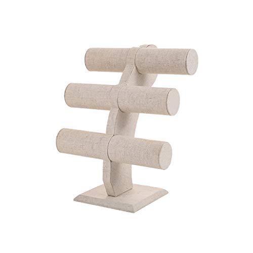 Rongzou Velvet T-Bar Pulsera Collar Joyería Display Stand para Organización en el Hogar