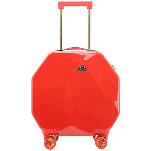 Kensie Luggage Gemstone 20' Dual Spinner Carry-On with TSA Lock (Red)
