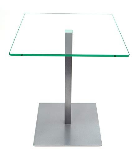 freeroom24 Beistelltisch, Tisch, Couchtisch Johannes in Silber Brillant, 40 x 40 x 60cm
