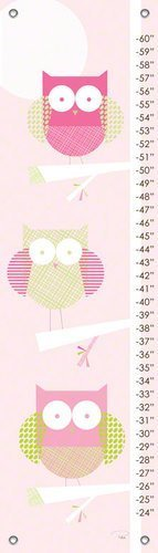Oopsy Daisy Three Little Owls Growth Chart by Patchi Cancado, 12 by 42-Inch by Oopsy daisy, Fine Art for Kids