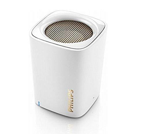 Philips BT100W Enceinte Portable sans Fil Compacte avec Bluetooth, Micro Intégré, Entrée Audio, Blanc