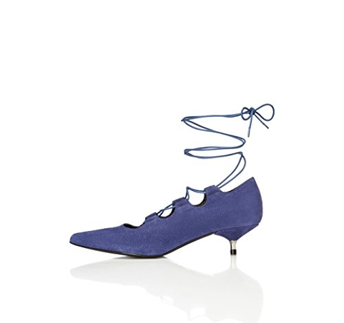 find. Escarpins Petits Talons Femme, Bleu (Blue), 39 EU