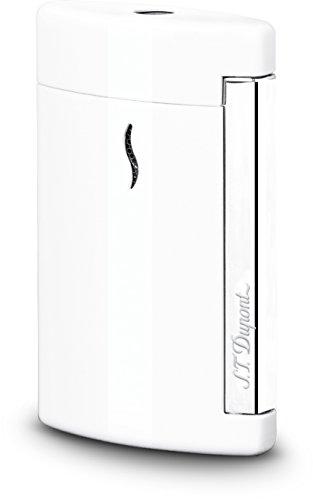 S.T. Dupont mini-aansteker, lak, wit, verchroomde accenten, 010506