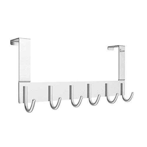Anjuer Perchero para Puerta Colgadores de Puerta Aluminio Percha de Baño Gancho de Baño para los dormitorios baños...