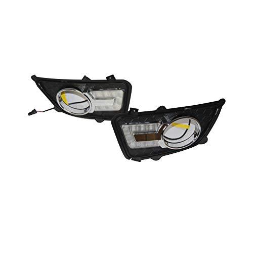 Genius Gn-7340 lumière de jour Running Light LED DRL kit brouillard Jour lampe, Blanc Tour Signal, Lot de 2