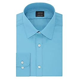 Arrow Men's Dress Shirt Poplin Regular Fit Spread Collar