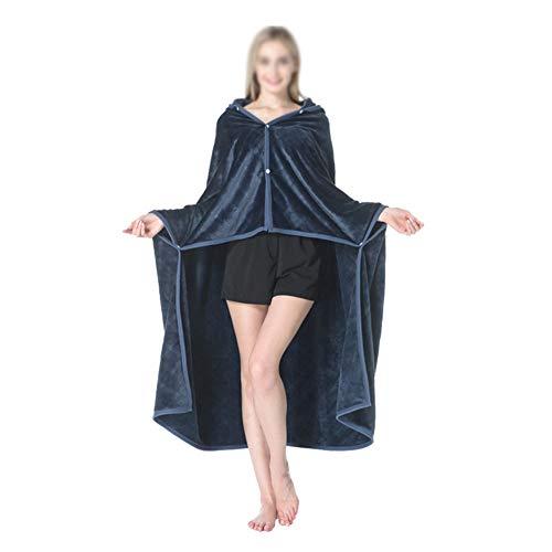 CLFBWD Hoodie Draagbare Deken Hooded Deken Poncho Pullover Comfortabele Warm Zachte Lichtgewicht TV Deken Makkelijk schoon te maken,150×130CM