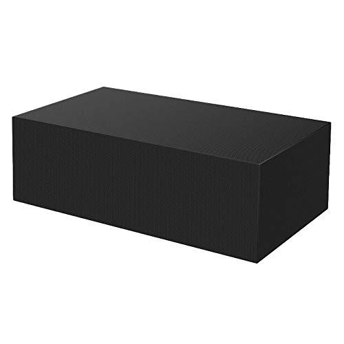 YRW 210D Oxford Cloth Fundas Impermeables para Patio Al Aire Libre para Muebles Mesa Sofá Funda para Silla Cubierta de Polvo Negro, 242X162X100Cm