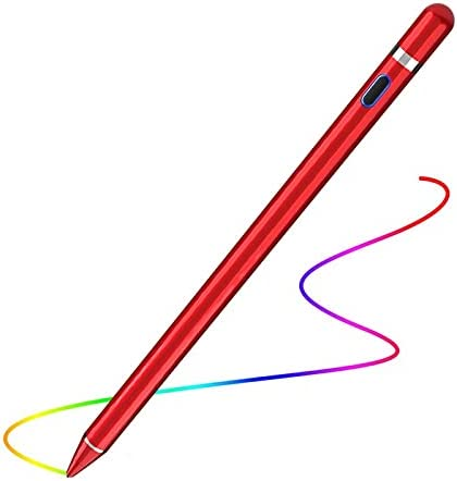 Active Stylus Pencil Compatible for Apple,Stylus Pens for Touch Screens, Capacitive Pencil for Kid Student Drawing, Writing,High Sensitivity,for Touch Screen Devices Tablet,Smartphone (Red)