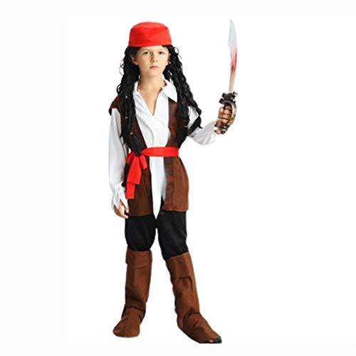 ZNZN Disfraces de Halloween para Hombres Trajes del Pirata de Halloween Cosplay del Traje for los Trajes de nio/de Halloween for Adultos, Ropa de Halloween Entre Padres e Hijos Disfraces